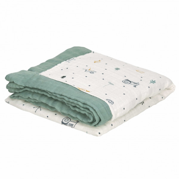 Heavenly Soft Babydecke - Garden Explorer Traktor